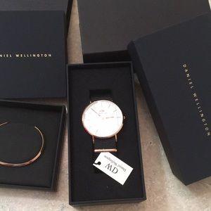 Daniel Wellington RoseGold Cornwall Watch Cuff Set